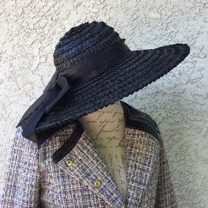 Vintage Plaza Suite Betmar Straw Wide Brim Sun Hat